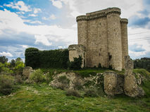 Ruins of a castle in Sesena, Castilla la Mancha, Spain Stock Image