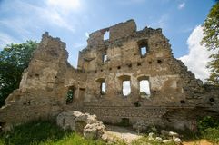 Castle Stary Rybnik. The ruins of the castle Stary Rybnik near Cheb in the Czech Republic Royalty Free Stock Photography