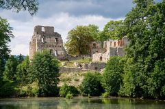 Castle Stary Rybnik. The ruins of the castle Stary Rybnik near Cheb in the Czech Republic Royalty Free Stock Image