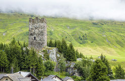 Ruins of castle in Switzerland Royalty Free Stock Images