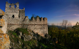 The ruins of the castle Tematin Stock Photo