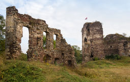 The ruins of the castle tower Buchach. Buchach, Ternopil region,. Ukraine Royalty Free Stock Photography
