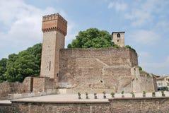 Castle of Volta Mantovana. Ruins of the castle and tower - Volta Mantovana, Mantova, Lombardy, Italy Stock Photos