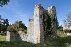 Ruins of the castle. A Ruins of the castle under blue sky royalty free stock photos