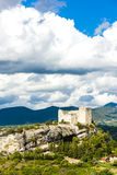 Ruins of castle in Vaison-la-Romaine Stock Image