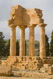 Ruins of Castor and Pollux temple in Agrigento. Royalty Free Stock Image