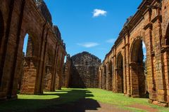 Ruins of Cathedral of Sao Miguel das Missoes. Rio Grande do Sul - Brazil stock photography