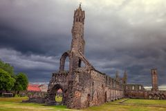 Ruins of the cathedral St. Andrews, Scotland stock image