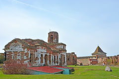 Ruins of the cathedral of St. John the Baptist royalty free stock images