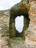 Ruins of Catullus Caves, roman villa in Sirmione, Garda Lake Stock Photography