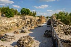 Ruins Catullus villa Stock Photos