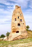 Ruins of the cave temple in Uchisar, Turkey Stock Photo