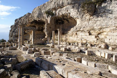 Ruins and caves Royalty Free Stock Photography
