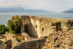 Ruins caves of Catullus Royalty Free Stock Photo