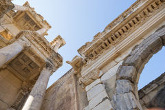 The ruins of Celsus Library in Ephesus Royalty Free Stock Image