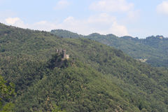 Ruins of Cerbaia castle, Tuscany, Italy Stock Images