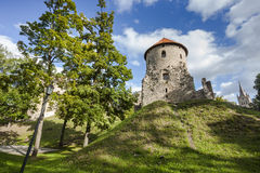 Ruins of Cesis Castle, Latvia Stock Images
