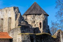 Ruins of Cesis Castle Royalty Free Stock Photos