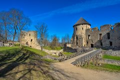Ruins of Cesis Castle Stock Image