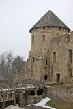 Ruins of Cesis Castle (or Wenden castle) that is a Livonian castle of 13th century situated in Cesis, Latvia. Royalty Free Stock Photos