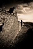 Ruins in Chaco Canyon Park. Ancient ruins in Chaco Canyon National Park Stock Photography