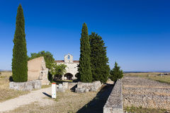 Ruins and chapel of Clunia Stock Photo