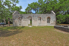 Ruins of the Chapel of Ease and graveyard near Beaufort, South C Stock Photography