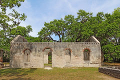 Ruins of the Chapel of Ease and graveyard near Beaufort, South C Royalty Free Stock Photography
