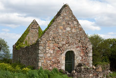 Ruins of a chapel in Redford park, Greystones Stock Images