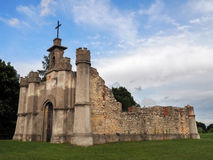 Ruins of a chapel on top of the hill Royalty Free Stock Image