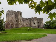 The ruins of Chepstow Castle, Wales Stock Photography