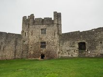 The ruins of Chepstow Castle, Wales Stock Images