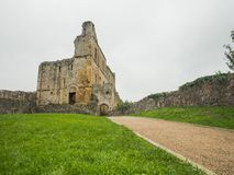 The ruins of Chepstow Castle, Wales Royalty Free Stock Photo