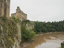 The ruins of Chepstow Castle, Wales Royalty Free Stock Photos