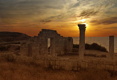 Ruins of Chersonese Stock Image