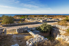 Ruins of Chersonesus - ancient Greek town near modern Sevastopol Royalty Free Stock Images