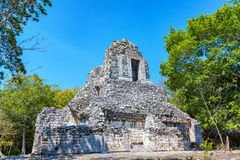 Ruins of Chicanna, Mexico stock photography