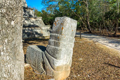 Ruins of Chichen Itza. View of the ruins of the once great Mayan city of Chichen Itza in Mexico Royalty Free Stock Image