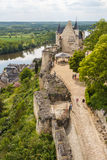 Ruins of the Chinon castle Royalty Free Stock Photos