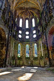 Ruins  Choir church Abbey Villers la Ville, Belgium. The remains of the Choir of the church in the ruined cistercian abbey of Villers la Ville, Belgium. Sun Stock Photo