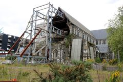 Ruins of Christchurch Cathedral, New Zealand Royalty Free Stock Photo