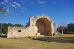 Dzibilchaltun cathedral. Ruins of a christian church in Dzibilchaltun, Merida, Yucatan, Mexico Royalty Free Stock Images