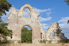 Ruins of a church. Ruins of an ancient church near Cambridge in England Stock Images