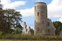 Ruins of a church. Ruins of an ancient church near Cambridge in England Royalty Free Stock Image