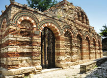 Ruins of Church. Of the Holy Archangels Michael and Gabriel, Nesebar, Bulgaria Royalty Free Stock Image