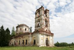 Ruins of a church. The ruins of a big church in Karelia, Russia Royalty Free Stock Photography