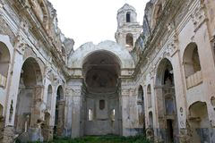 Ruins of the Church of Bussana Vecchia Royalty Free Stock Photo