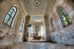 Ruins of the  Church of the Exaltation of the Holy Cross Royalty Free Stock Photo