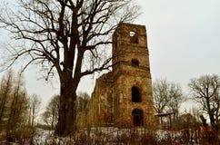 Ruins of the church Stock Photos