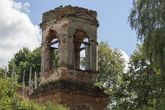 The ruins of the church Royalty Free Stock Photos